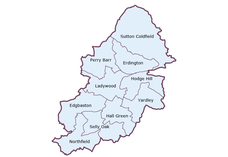Birmingham District Map